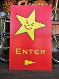Vintage Original Carl's Jr Drive-thru Sign ENTER (J379)