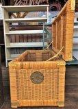 画像8: Antique Wicker Trunk Chest Basket Large Size (J382)