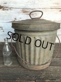 40s Vintage PEEVES US 5GAL Industrial Metal Can (J393)