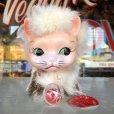 画像1: Vintage Kitty Cat Genuine Fur Boudoir Pets (J402) (1)