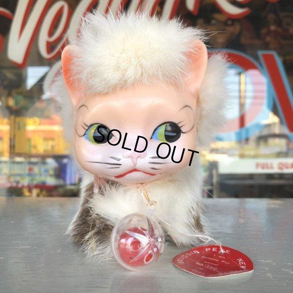 画像1: Vintage Kitty Cat Genuine Fur Boudoir Pets (J402)