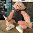 画像1: Vintage Rushton Pink Zippy the Monkey Doll (J417) (1)