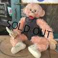 Vintage Rushton Pink Zippy the Monkey Doll (J417)