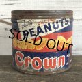 Vintage Crown Party Peanuts Tin Can (J423)