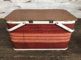 画像3: Vintage Wicker Picnic Basket Red (J441)