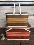 画像10: Vintage Wicker Picnic Basket Red (J441) (10)