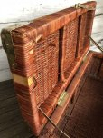 画像8: Vintage Wicker Trunk Chest Basket Large Size (J439)