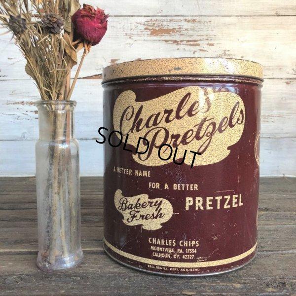 画像1: Vintage Charles Pretzels Tin Can (J447)