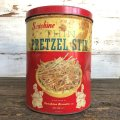 Vintage Sunshine Thin Pretzel Stix Tin Can (J452)