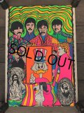 60s Vintage Beatles The Gang Dan Shupe Black Light Poster (J684)