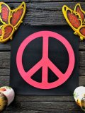 60s Vintage Peace Sign Black Light Poster (J686)