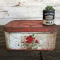 Vintage Bread Box Tin Rose (J694)