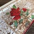 画像10: Vintage Bread Box Tin Rose (J694)