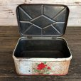 画像8: Vintage Bread Box Tin Rose (J694) (8)