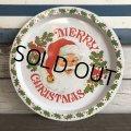 70s Vintage Merry Christmas Tin Tray (J706)
