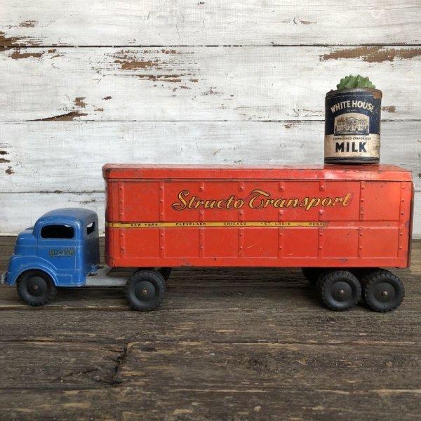 画像1: 50s Vintage Structo Transport Van Truck (J037)