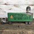 50s Vintage Structo Farms Cattle Trailer Truck (J036)