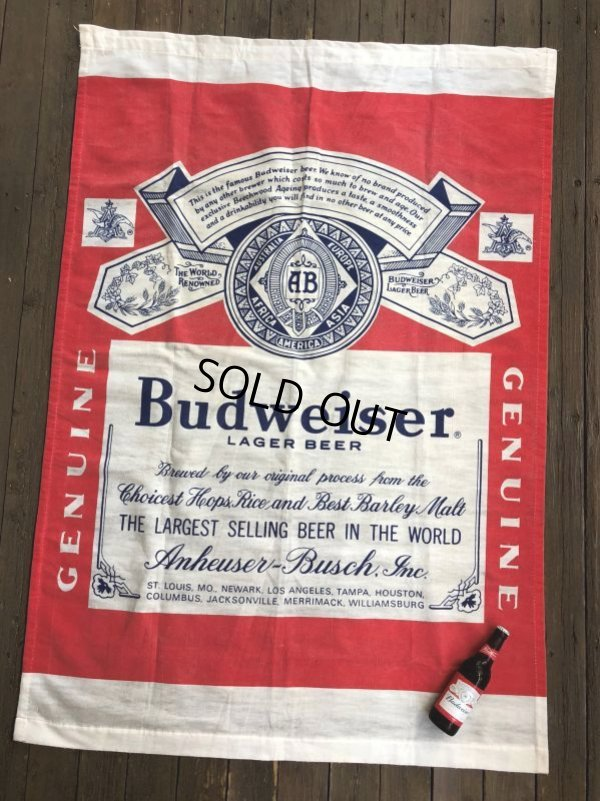 画像2: Vintage Budweiser Original Doorway Curtain Store Display (J768)