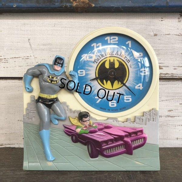 画像1: 70s Vintage Talking alarm Clock Batman & Robin (J771)