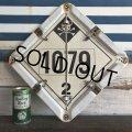 Vintage Hazard Panel Duo-Flip Numbered Sign (J775)