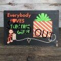 50s Vintage Reddy Kilowatt Store Display Cardboard Sign (J780)