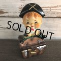 SALE Vintage Ceramic Bobble Head Doll Pirate (J786)