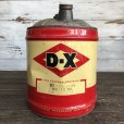 画像1: Vintage Oil can D-X Motor Oil 5 U.S. GALLONS (J803)   (1)