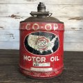Vintage Oil can CO-OP Motor Oil 5 U.S. GALLONS (J806)