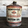 Vintage Oil can LION Motor Oil 5 U.S. GALLONS (J804)