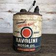 画像1: Vintage Oil can HAVOLINE Motor Oil 5 U.S. GALLONS (J805)   (1)