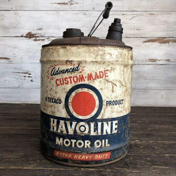 画像1: Vintage Oil can HAVOLINE Motor Oil 5 U.S. GALLONS (J805)