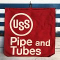 Vintage USS Pipe and Tubes Cloth Banner Sign (J815)
