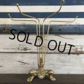 Vintage Brass Toned Counter Top Wire display Rack (J816)