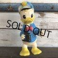 60s Vintage DELL Disney Donald Duck Rubber Doll Captain (J828)