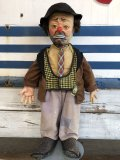 50s Vintage Emmett Kelly Clown Doll (J825)
