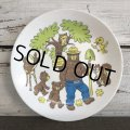 Vintage Smokey The Bear Plastic Plate (J839)