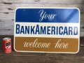 60s Vintag BANK OF AMERICA Double Side Sign  (J941)
