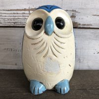 70s Vintage Owl Ceramic Bank (J945)