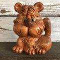 70s Vintage Ceramic Statue Lion (J943)
