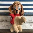 画像1: 60s Vintage Rushton Rubber Face Doll Craing Dog (J942) (1)
