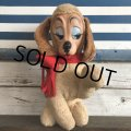 60s Vintage Rushton Rubber Face Doll Craing Dog (J942)