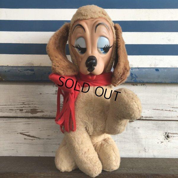 画像1: 60s Vintage Rushton Rubber Face Doll Craing Dog (J942)