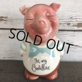 Vintage Ceramic Piggy Bank For my Cadillac (J957)