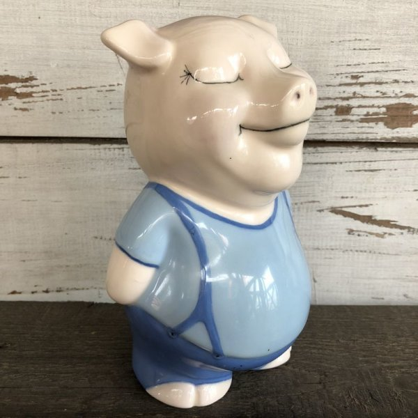 画像2: Vintage Ceramic Piggy Bank Blue (J955)