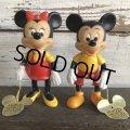 Vintage Dakin Disney Mickey & Minnie Mini Figure Set (J960)
