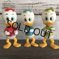Vintage Dakin Disney Huey Dewey & Louie Mini Figure Set (J964)