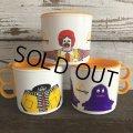80s Vintage McDonalds Hamburglar Plastic Mug Cup (J964)