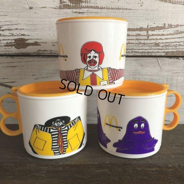 画像1: 80s Vintage McDonalds Hamburglar Plastic Mug Cup (J964)