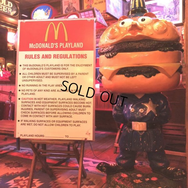画像1: 70s Vintage MCDONALDS Playland Rules & Regulations Sign  (J948)