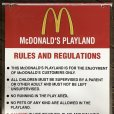画像6: 70s Vintage MCDONALDS Playland Rules & Regulations Sign  (J948)